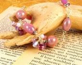 Paris Flirtation Pink and Silver Handmade Bracelet Jewelry