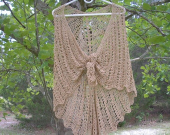 Golden Lace Shawl