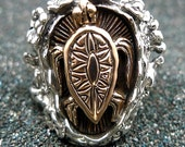 Hawaiian Silver Turtle Ring R008
