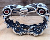 Raven Skulls Bracelet Cycle of life battle for the egg by RXVrings.com  Ruben X. Viramontes see the VIDEO on my website B011