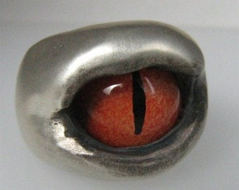 Dragon Eye Ring Custom Wicca King Biker Baby R046