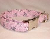 Pink Skull Rock N Roll Dog Collar by Swanky Pet
