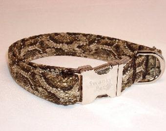 Stylish Snake Print Dog Collar by Swanky Pet