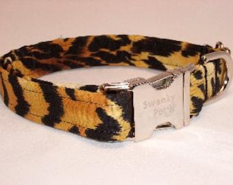 Tiger Stripe Dog Collar by Swanky Pet