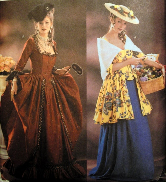 Butterick 3640 Making History Colonial Dress Pattern 12-14-16
