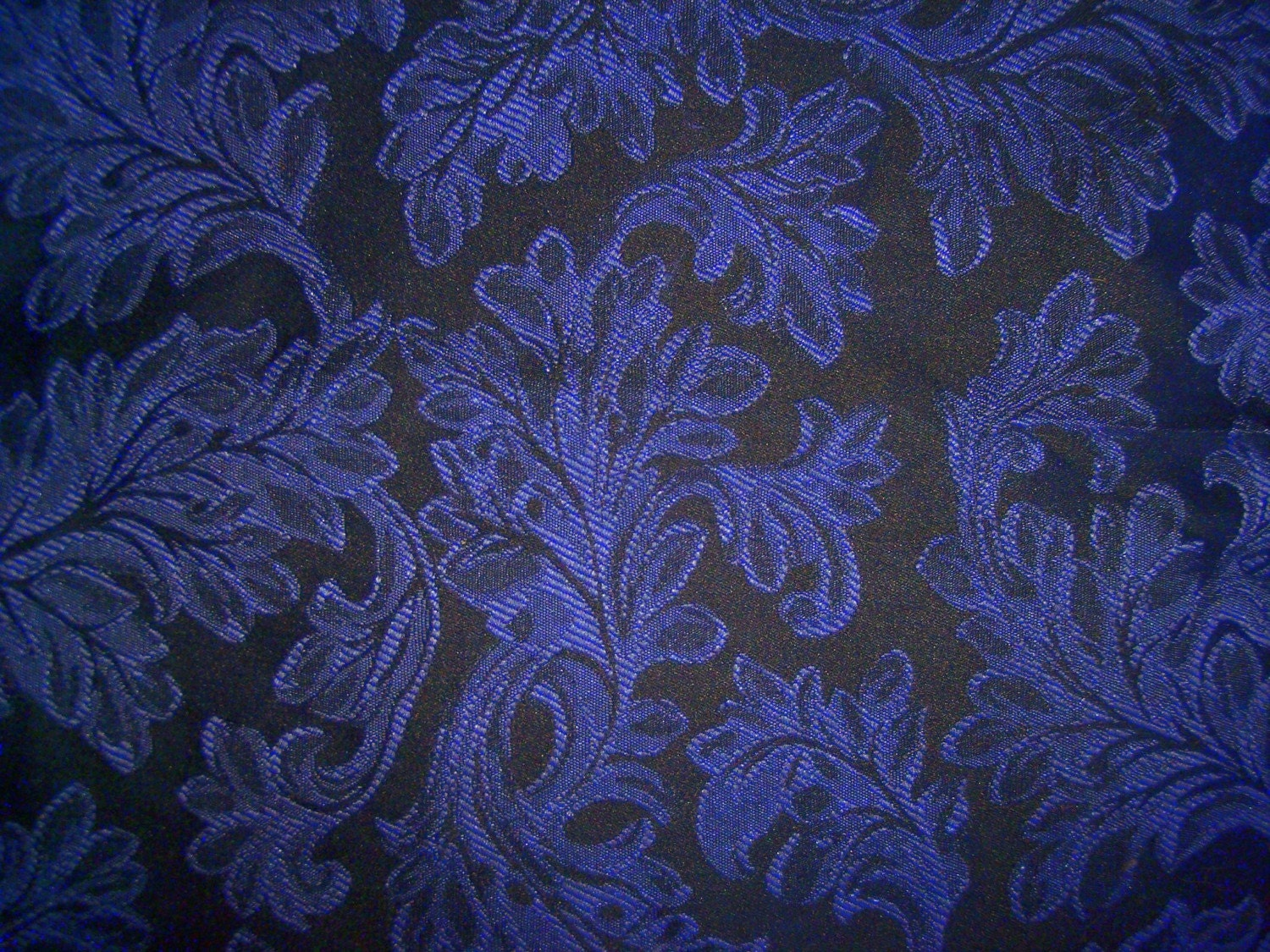 Navy Blue Damask Upholstery Fabric 1 75 Yds