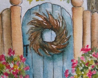 Art Cards Original Watercolor Original Art ACEO Artist Trading Card