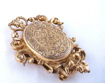 SALE***Goldtone Fancy Scroll Pin/Dressclip