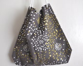 Organic Cotton Tote With Screen Printed Fireworks Print
