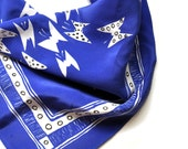 SALE Butterflies Square Silk Scarf
