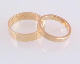 10k Yellow Gold Ring Set