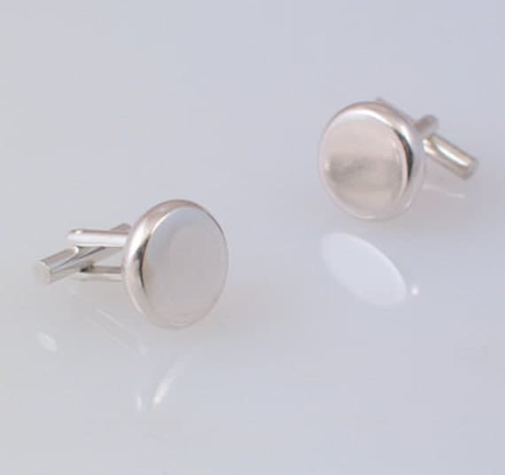 Sterling Silver Rounded Edge Cufflinks