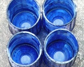 Recycled Glass Cup Set - Blue