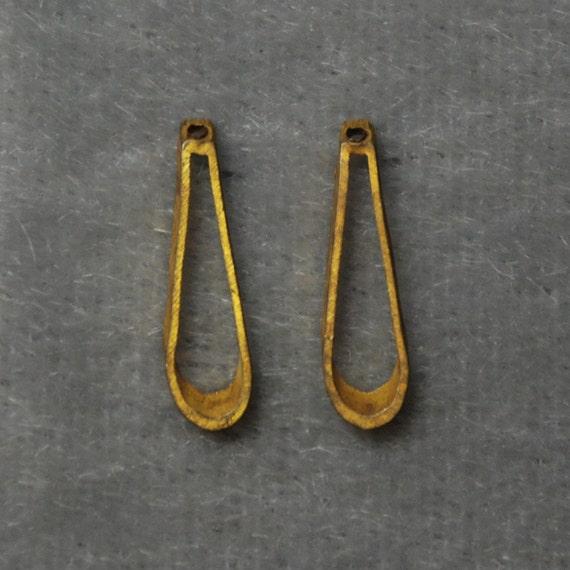 Reserved - Vintage Brass Open Tear Drop Jewelry Finding