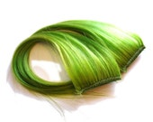 Lime Green Clip-In Hair Extensions