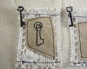 The Key. fabric ACEO