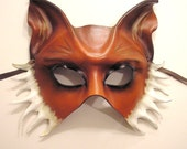 Leather Mask of a Fox...Half Face Version
