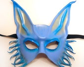 Blue Fox Creature Leather Mask READY TO SHIP