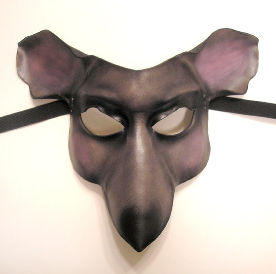 Mouse or Rat Leather Mask with teeth option