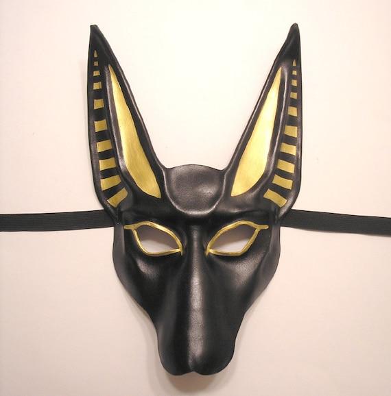Egyptian God Anubis Leather Mask