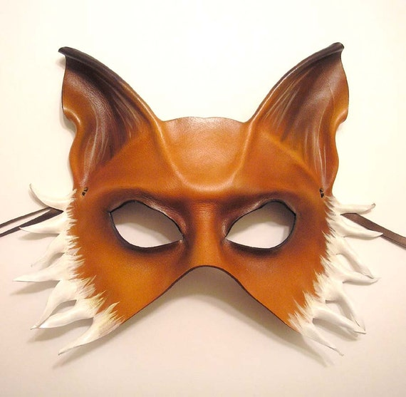 Leather Mask of a Fox