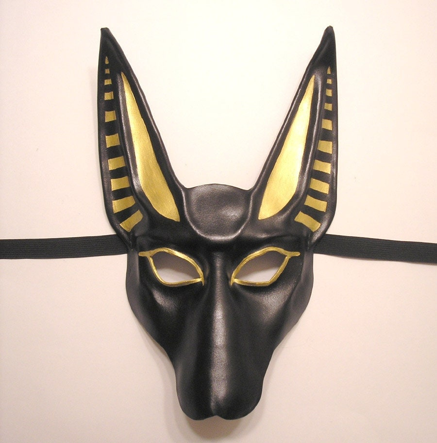 Egyptian God Anubis Leather Mask