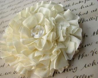 Bella ribbon flower brooch TUTORIAL. PDF // instant download