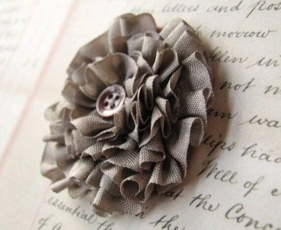 DIY KIT and TUTORIAL.  ribbon flower brooch.