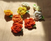 Crochet Rose brooch - choose your color