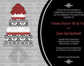 Customized Engagement Party Bridal Shower Party Invite Invitation 5x7