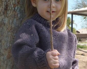 knit sweater - grape - toddler sz 2 -4
