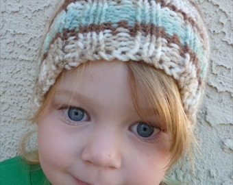 Acrylic Toddler Hat size 2 - 4 Hand Knit