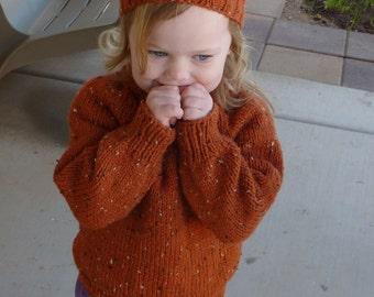 toddler knit sweater - pumpkin sz  2 - 3