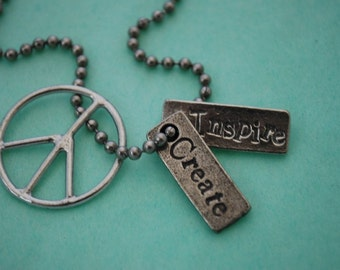 Create and Inspire Peace Necklace