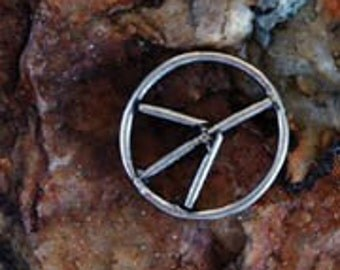10 Pewter Peace Sign Charms