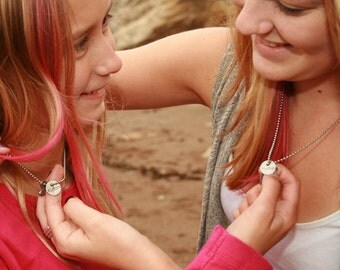 Sisters and heart Necklace