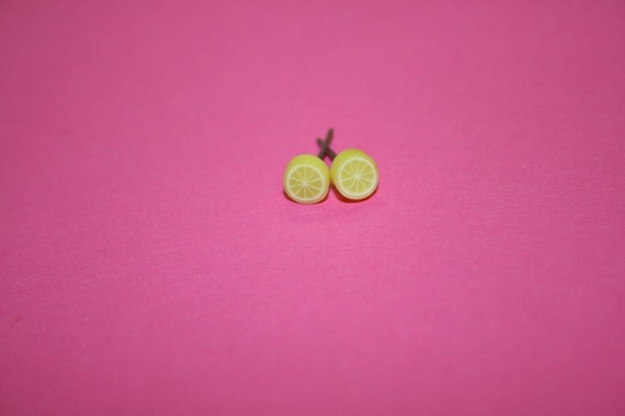 Tiny Lemon Stud Earrings