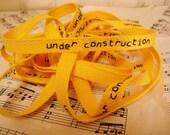 Under Construction - Cotton Twill Ribbon - 3 Yards
