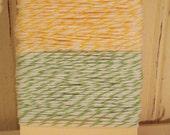 Lemon Yellow and Apple Green  Bakers Twine - 20 Yards