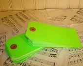 Large Green Shipping Tags - Set of 50 - Size 5 -  4 3/4  X  2 3/8