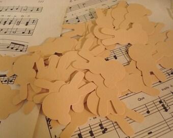 50 Handpunched Paper Bunnies - Tan