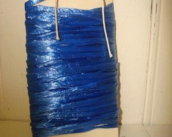 Royal Blue Raffia Ribbon - 10 Yards - Pearlized