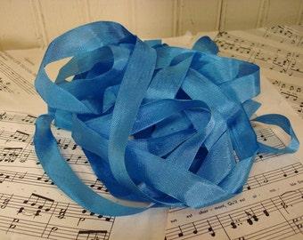 5 Yards Vintage Seam Binding - Ocean Blue