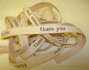 Thank You - Cotton Twill Ribbon