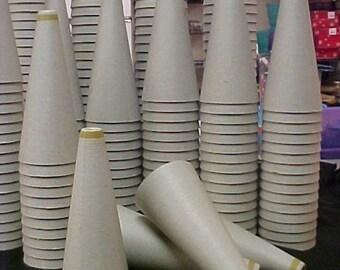 12 Paper Mache Cardboard Cones -  New