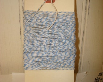 Blue and White Bakers Twine - 20 Yards