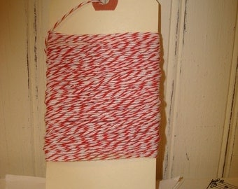 Red and White Bakers Twine - 20 Yards