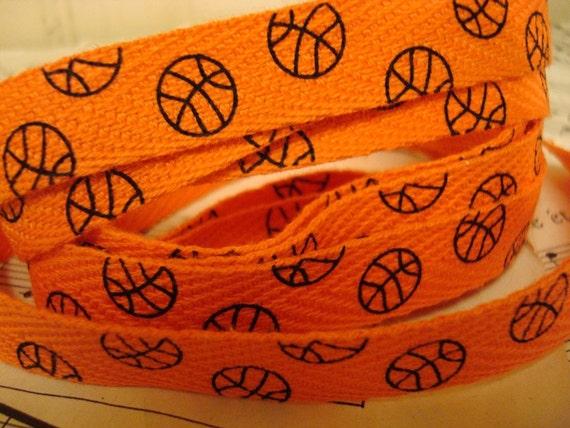 Basketball - Cotton Twill Ribbon - 3 Yards