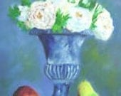 Tuscan Urn with Pears    Urn Paintings and Pear Paintings