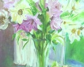Floral with Fruit  Still Life Painting